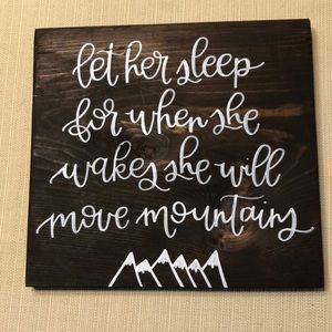 Handmade and handcrafted wooden sign